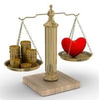 bilancia cuore soldi