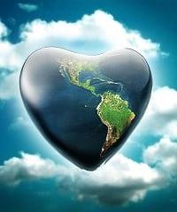La Felicità è Amore - Testo del tema di Claudia cuore terra www.RicchezzaVera.com