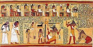 Lo Spirito il Miracolo della Vita Papiro Ani la pesatura del BA ( Anima)