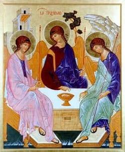 Lo Spirito il Miracolo della Vita Rublev l'Uno è triplice  1410 - Mosca