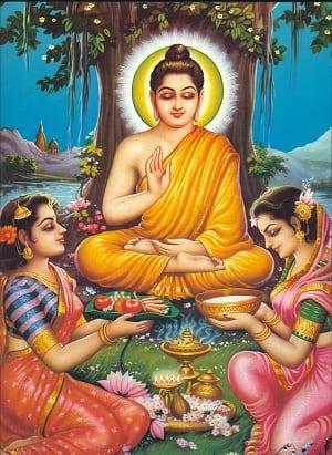 Alimentazione illuminata Buddha