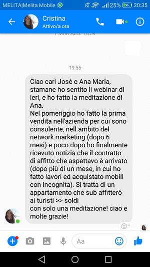 Screenshot Cristina Leone del 15 marzo 2018