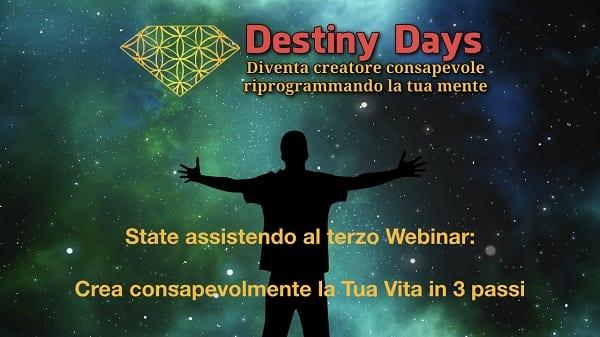 Crea consapevolmente in 3 passi - Destiny Days 3